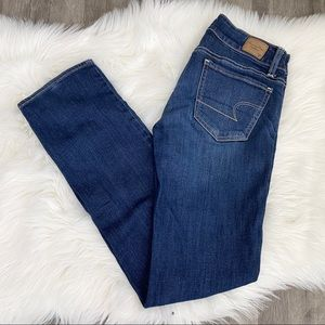 American Eagle Stretch Sz 0 Straight Jeans